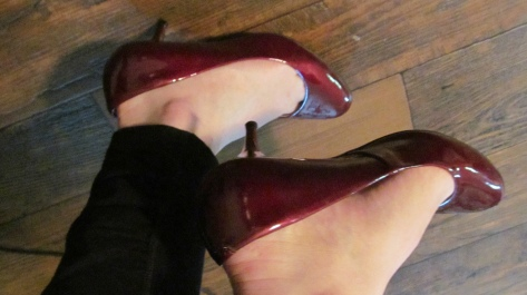 Not too high - but the thin heel still makes it fancy!