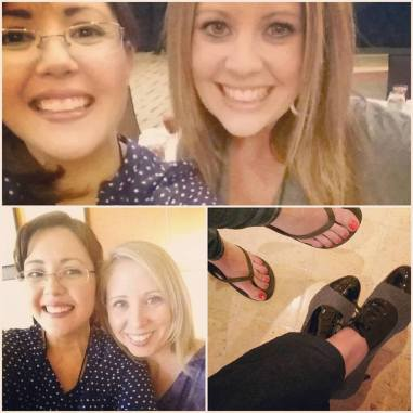 Among the many perks of going to an acfw conference: new friends and new shoes!